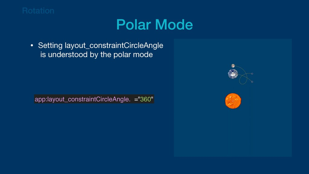 Rotation   Polar Mode • Setting layout_constrai...