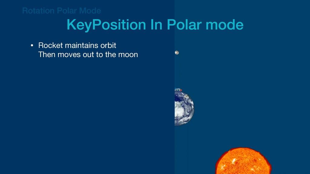Rotation Polar Mode   KeyPosition In Polar mode...