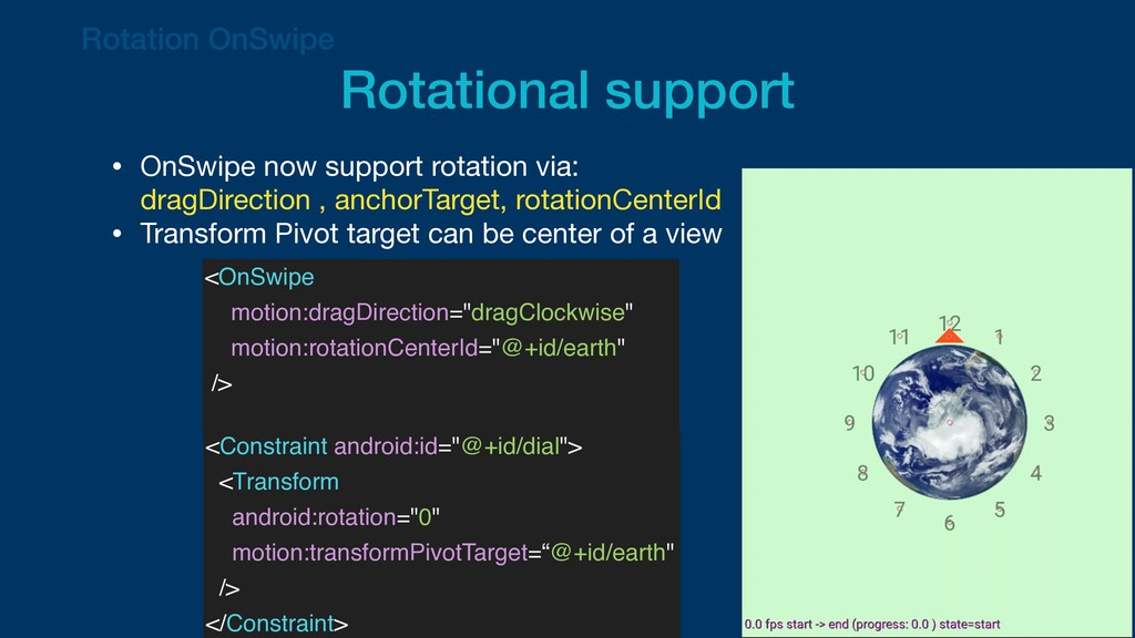 • OnSwipe now support rotation via: dragDirect...