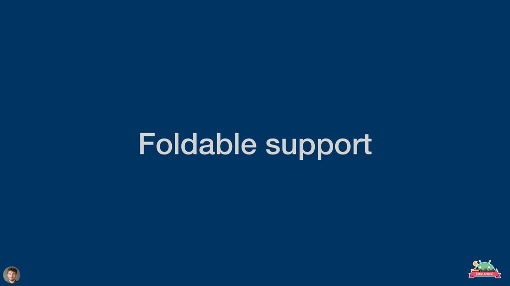 Foldable support