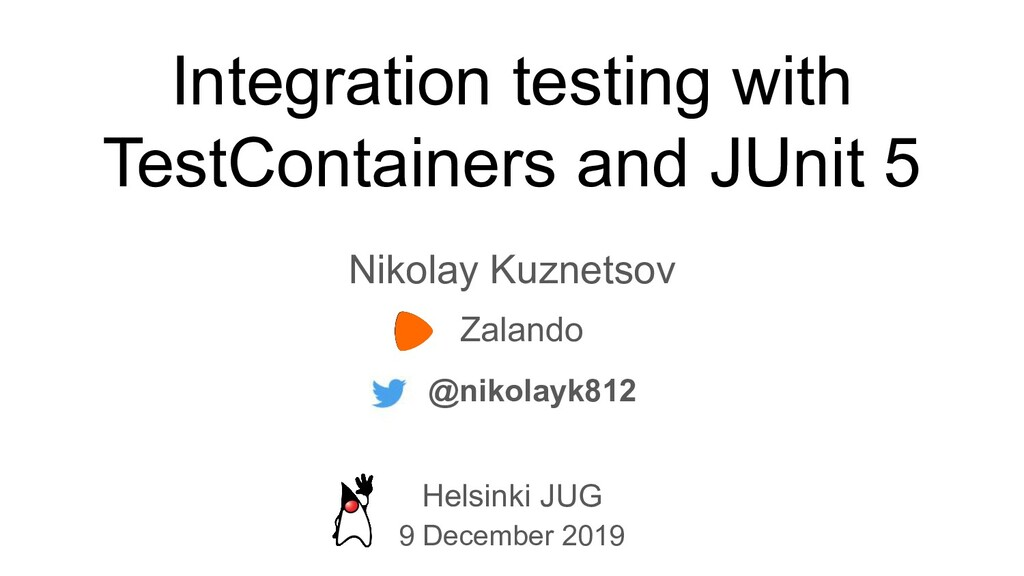 Integration testing with TestСontainers and JUn...