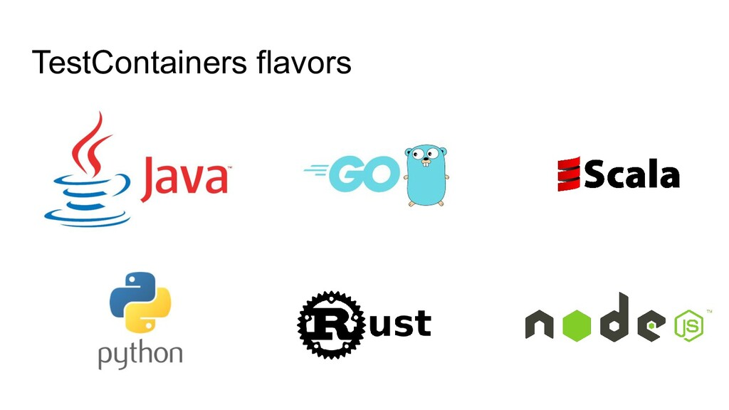 TestContainers flavors