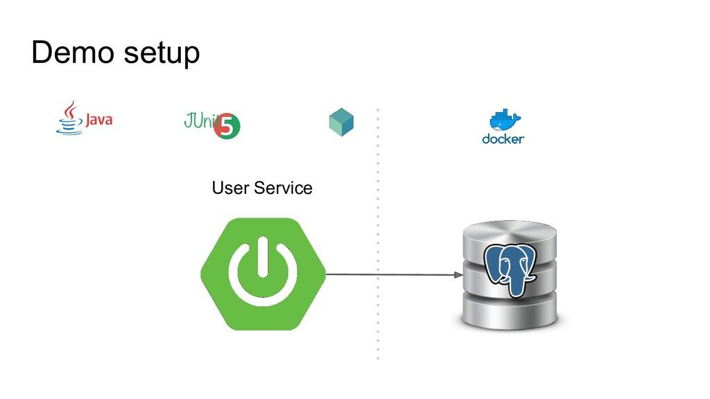 Demo setup User Service