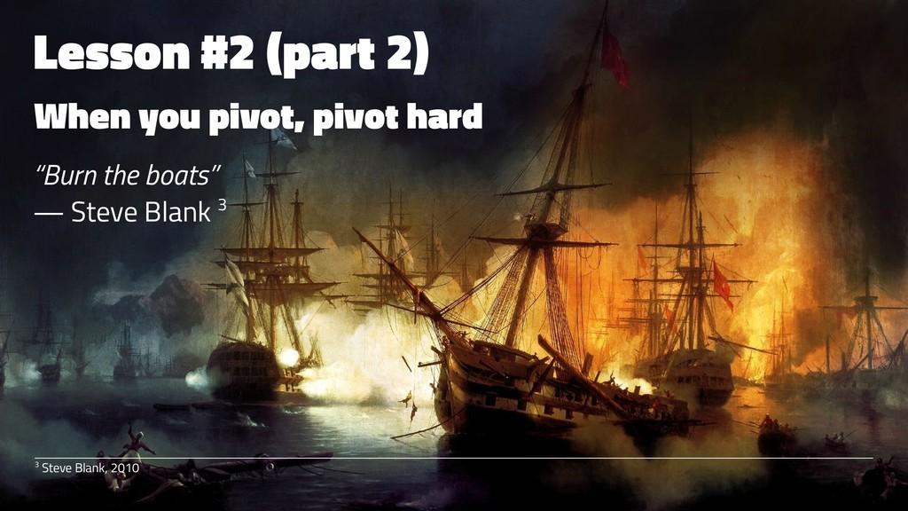 """Lesson #2 (part 2) When you pivot, pivot hard """"..."""