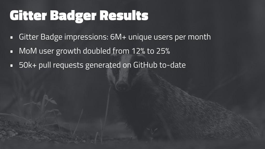 Gitter Badger Results • Gitter Badge impression...