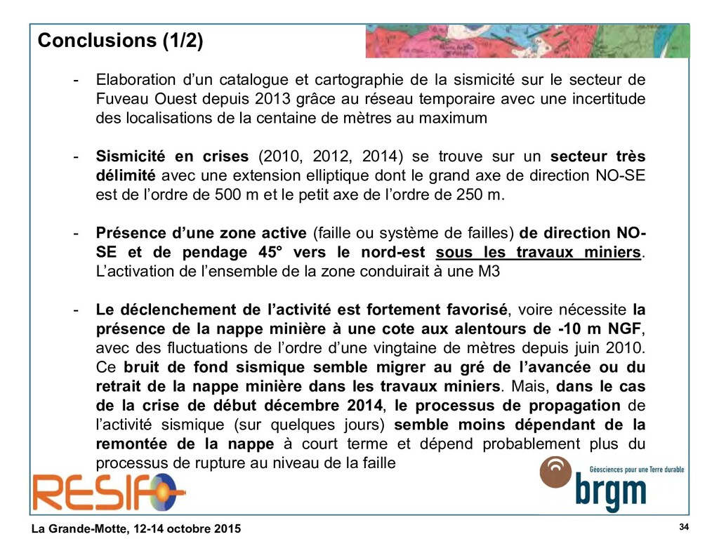 34 La Grande-Motte, 12-14 octobre 2015 Conclusi...