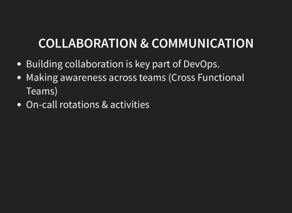 COLLABORATION & COMMUNICATION Building collabor...