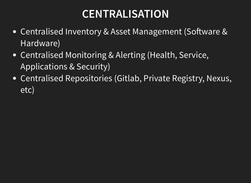 CENTRALISATION Centralised Inventory & Asset Ma...