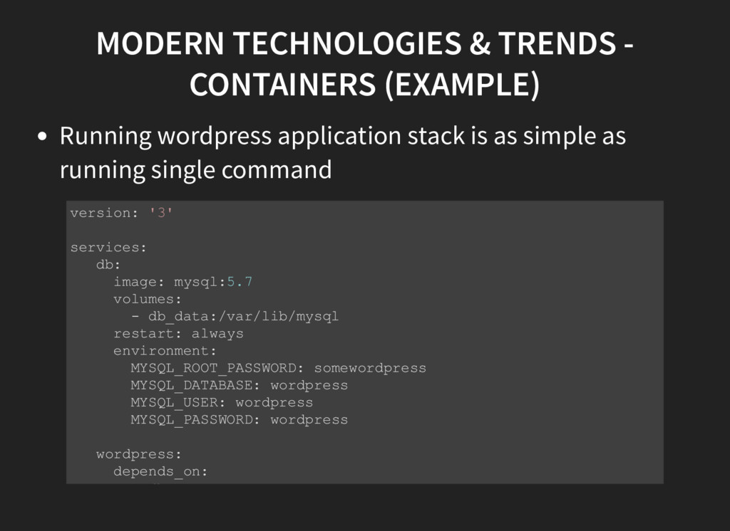 MODERN TECHNOLOGIES & TRENDS - CONTAINERS (EXAM...