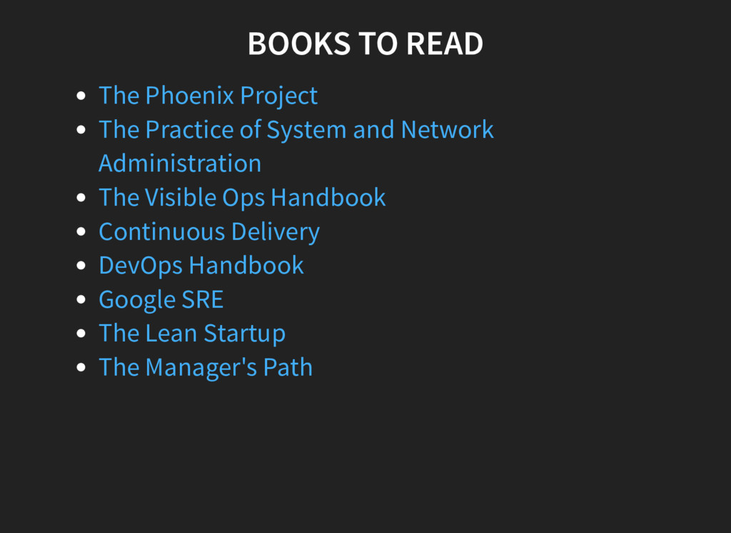 BOOKS TO READ The Phoenix Project The Practice ...
