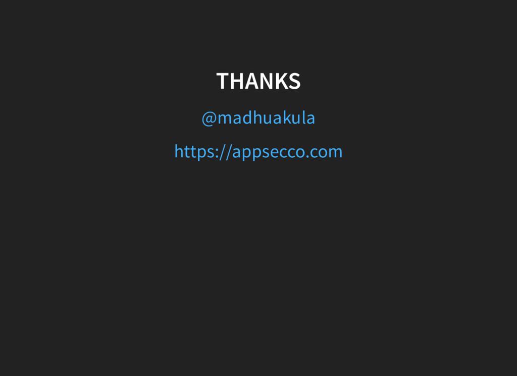 THANKS @madhuakula https://appsecco.com
