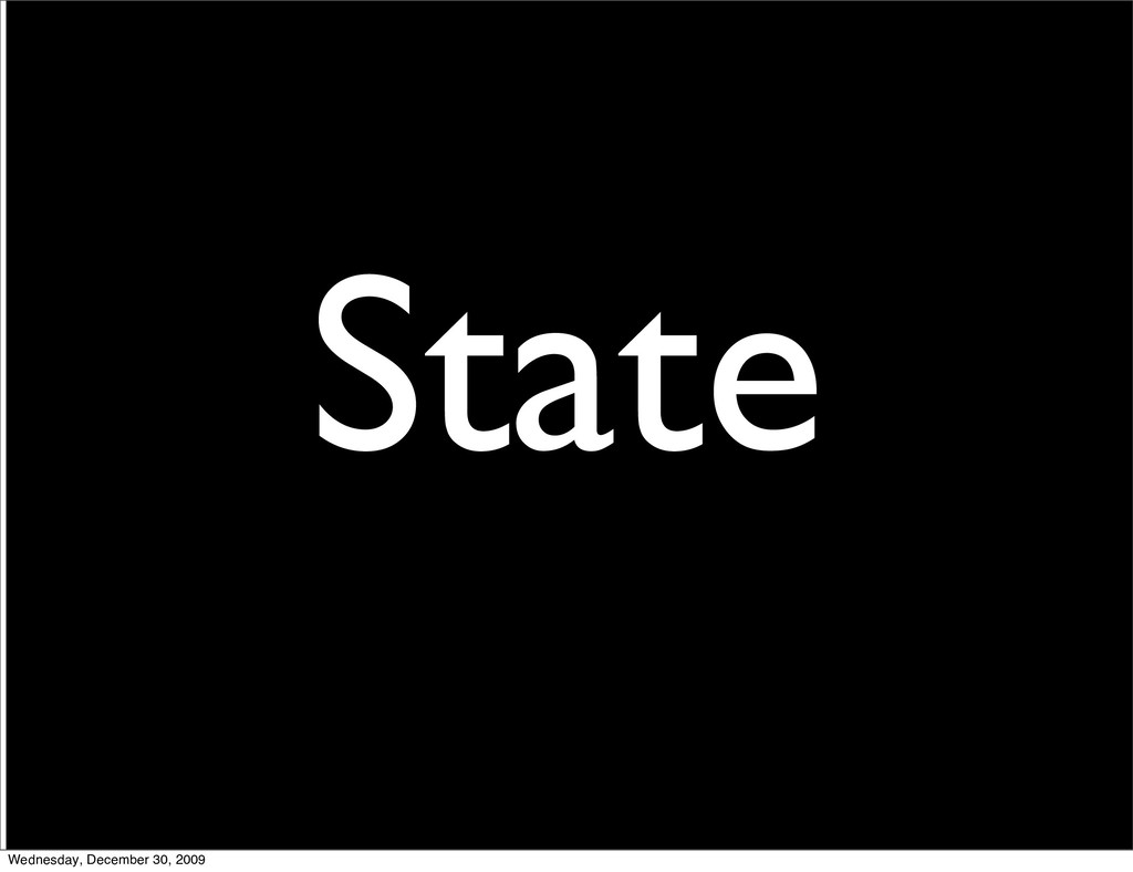 2 State Wednesday, December 30, 2009