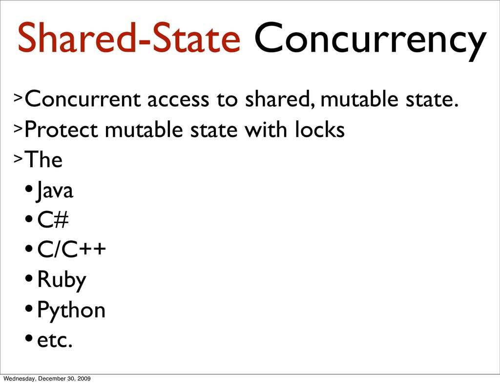 Shared-State Concurrency >Concurrent access to ...