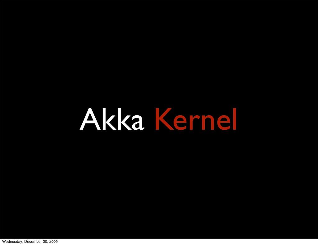 Akka Kernel Wednesday, December 30, 2009