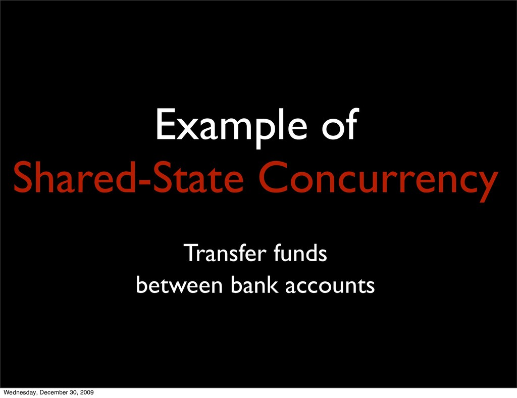 Example of Shared-State Concurrency Transfer fu...