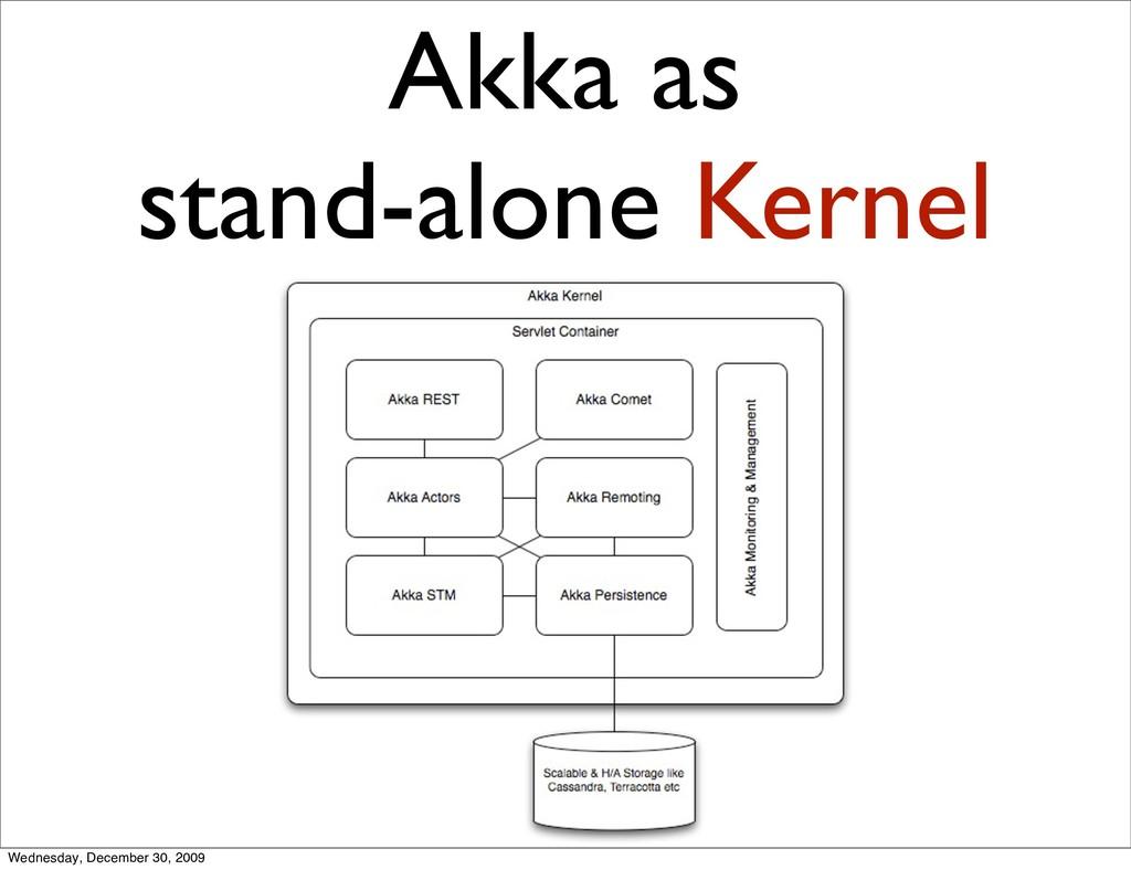 Akka as stand-alone Kernel Wednesday, December ...