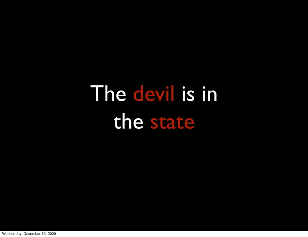 3 The devil is in the state Wednesday, December...