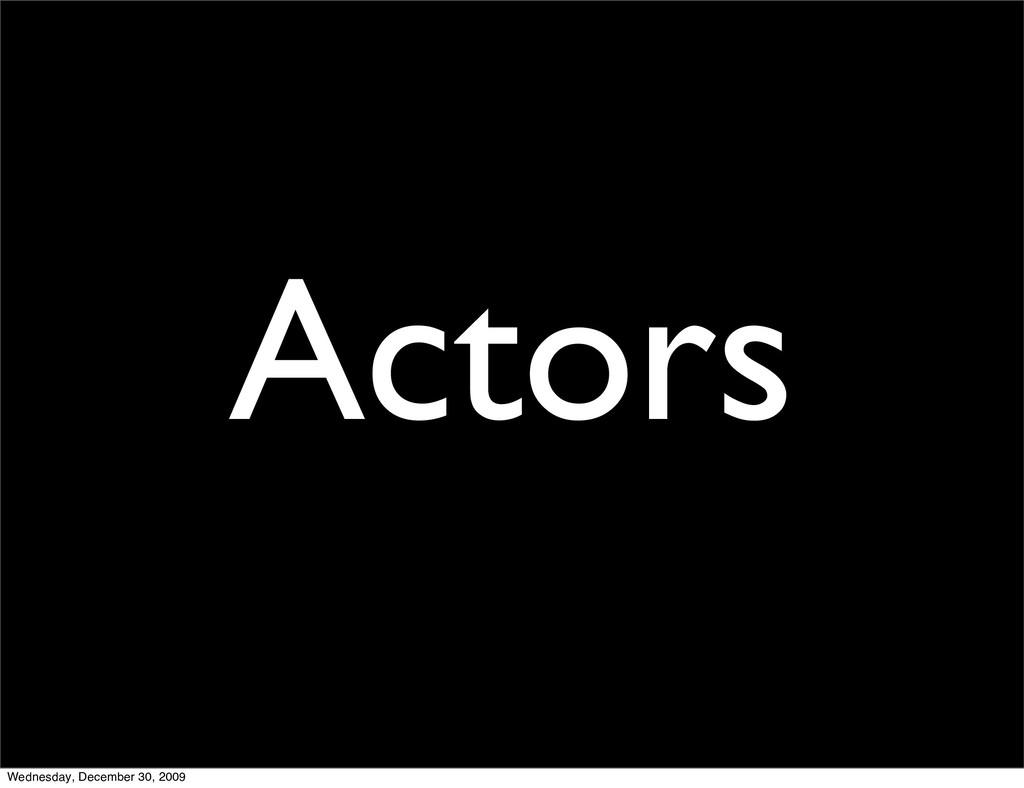 Actors Wednesday, December 30, 2009