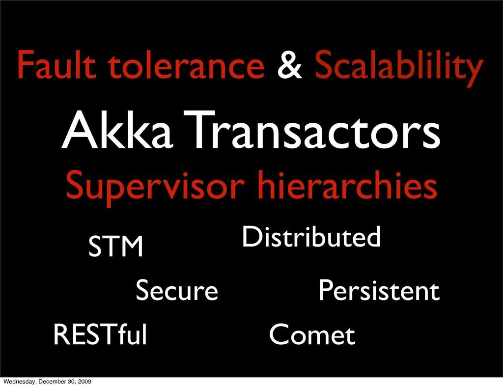 Akka Transactors Supervisor hierarchies STM Per...