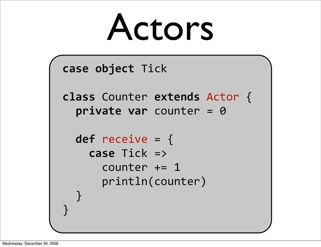 caseobjectTick classCounterextendsActor{ ...