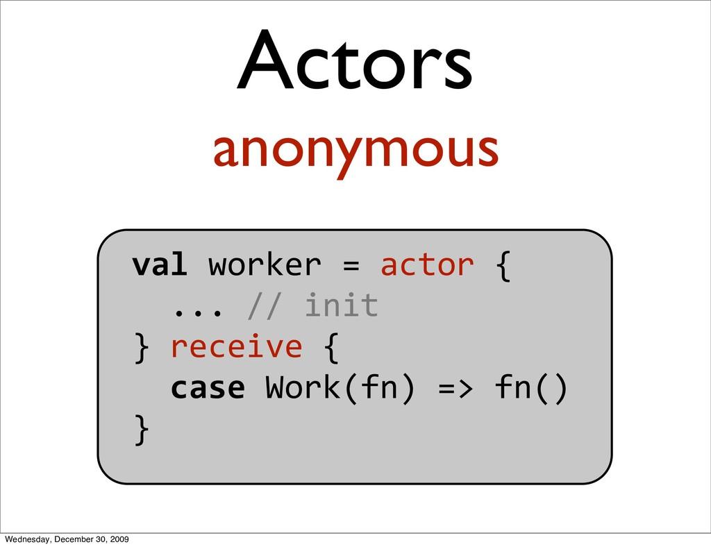 valworker=actor{ ...//init }receive{ ...