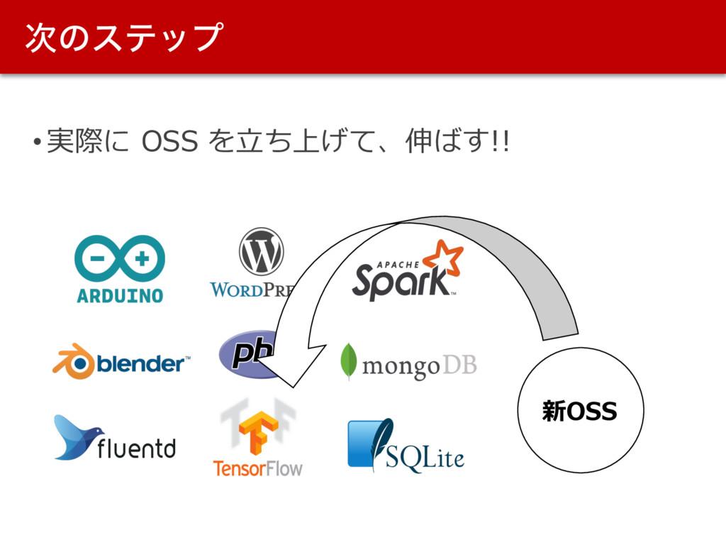 ͷεςοϓ • 実際に OSS を⽴ち上げて、伸ばす!! 新OSS