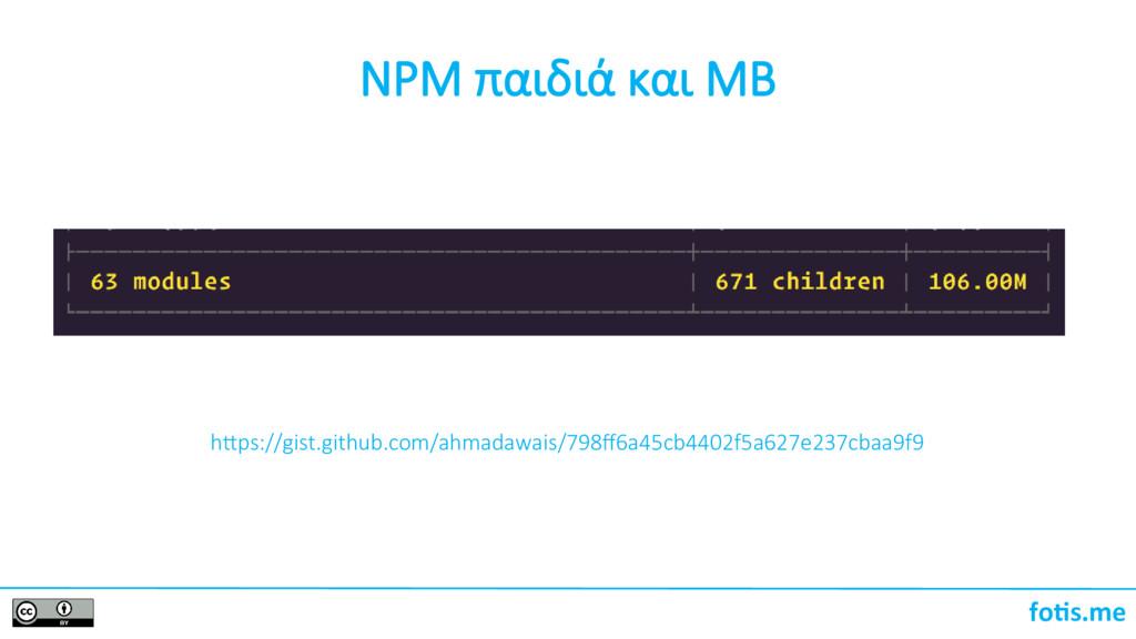 foti.me NPM παιδιά και MB htps://gist.github.co...