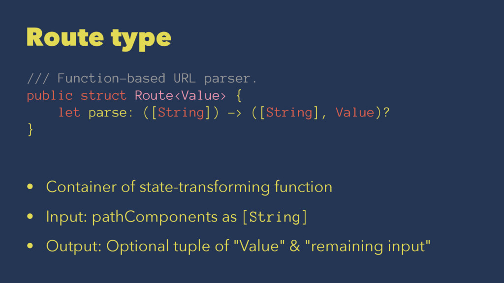 Route type /// Function-based URL parser. publi...