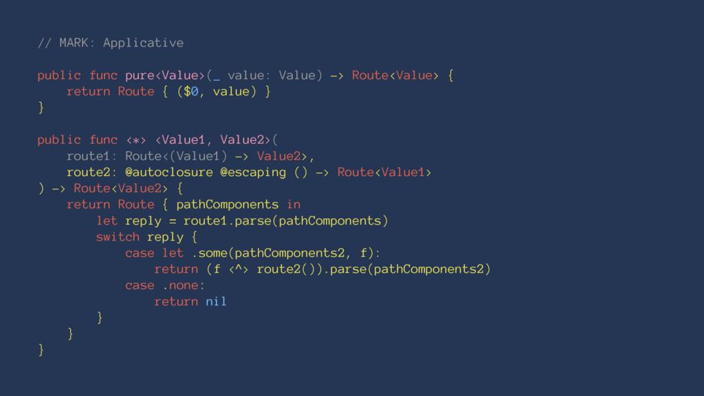 // MARK: Applicative public func pure<Value>(_ ...