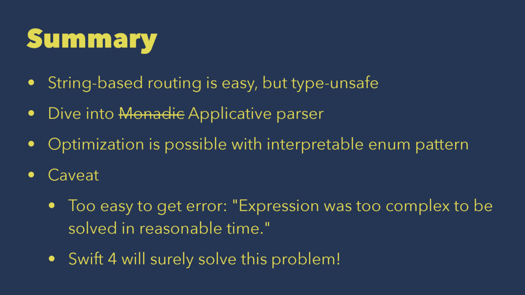 Summary • String-based routing is easy, but typ...