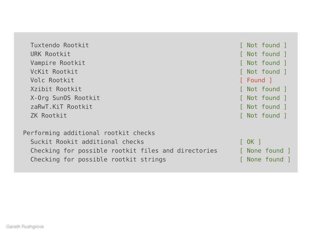 Tuxtendo Rootkit [ Not found ] URK Rootkit [ No...