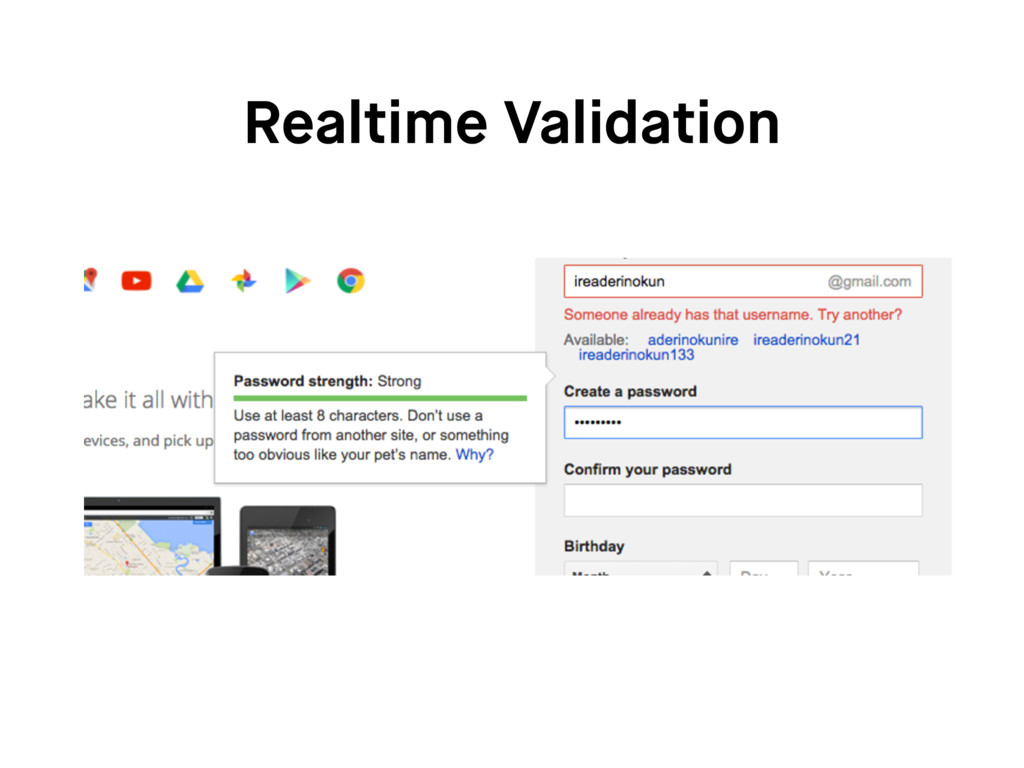 Realtime Validation