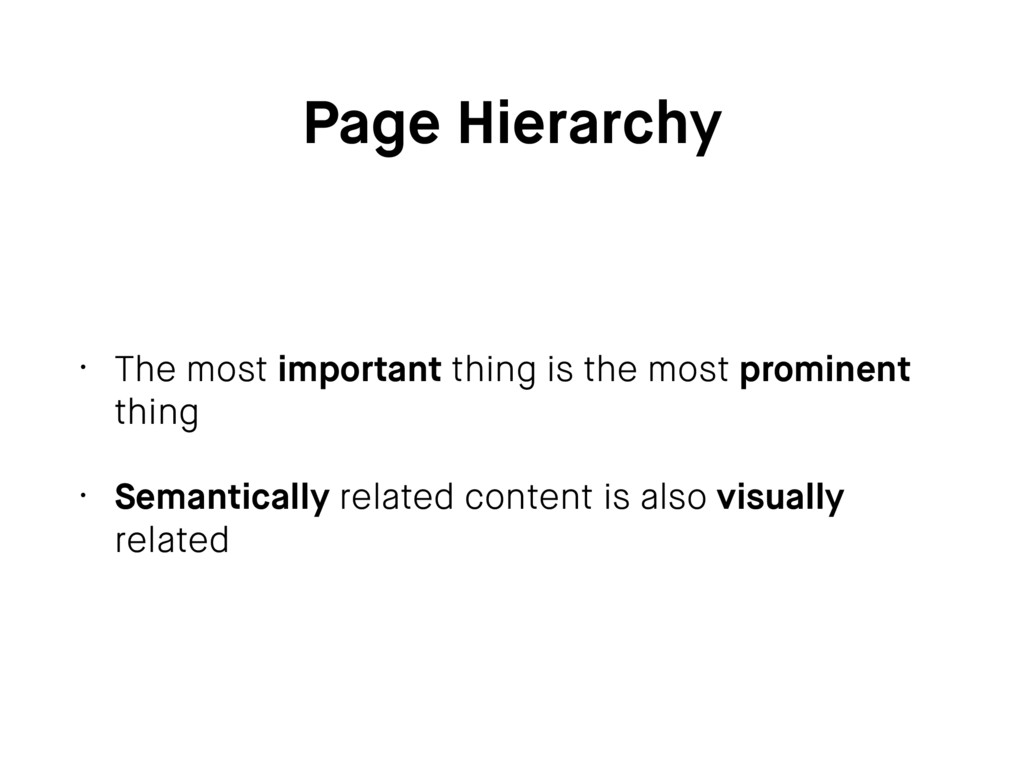 Page Hierarchy • The most important thing is th...