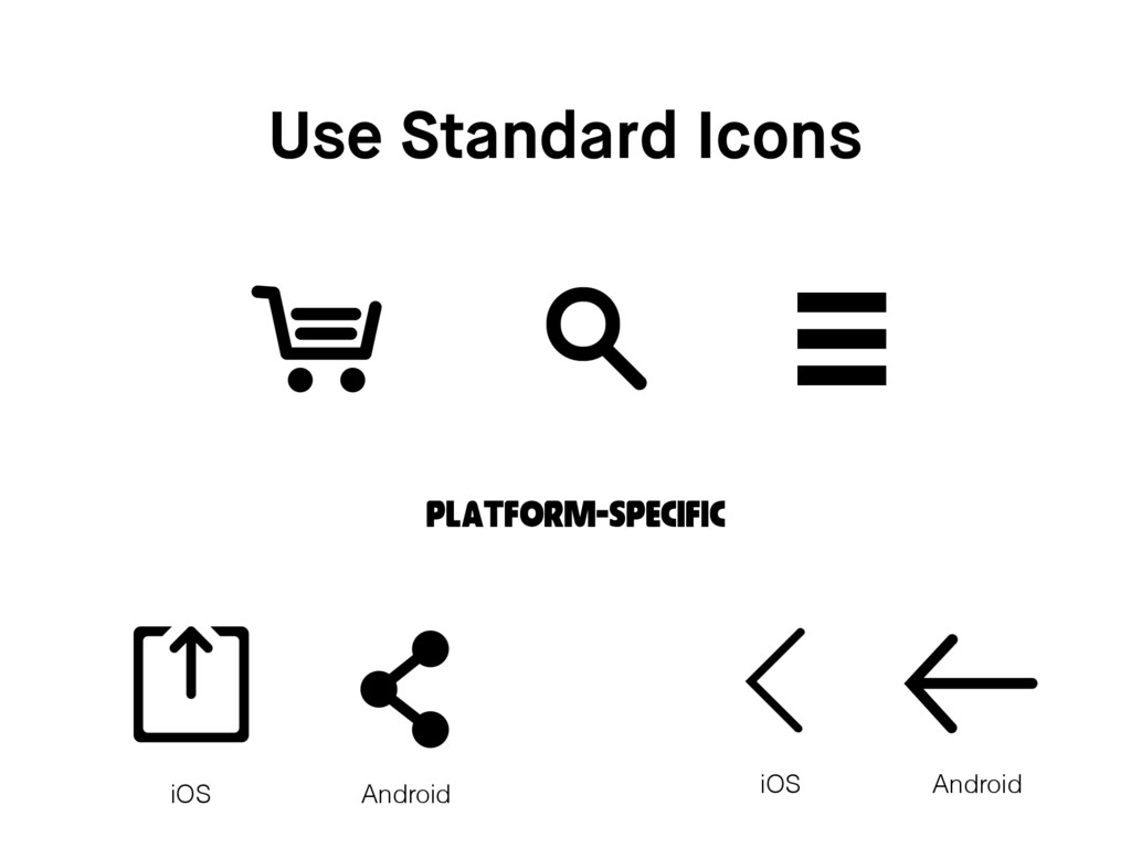 Use Standard Icons Platform-Specific iOS Androi...