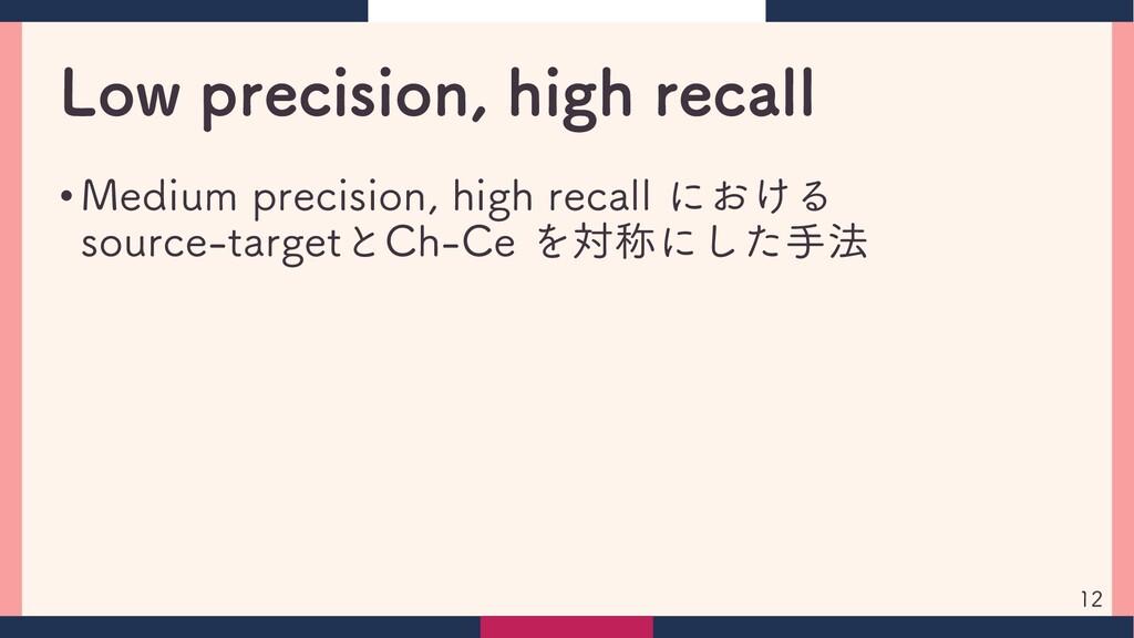 Low precision, high recall • Medium precision, ...