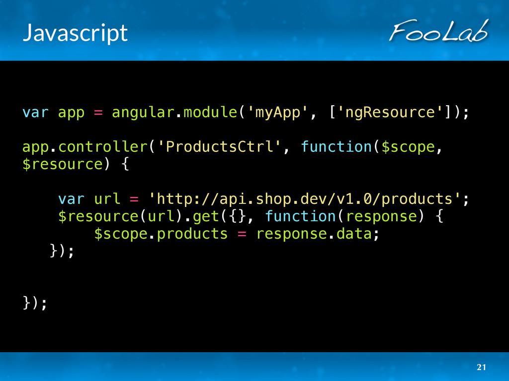 Javascript var app = angular.module('myApp', ['...