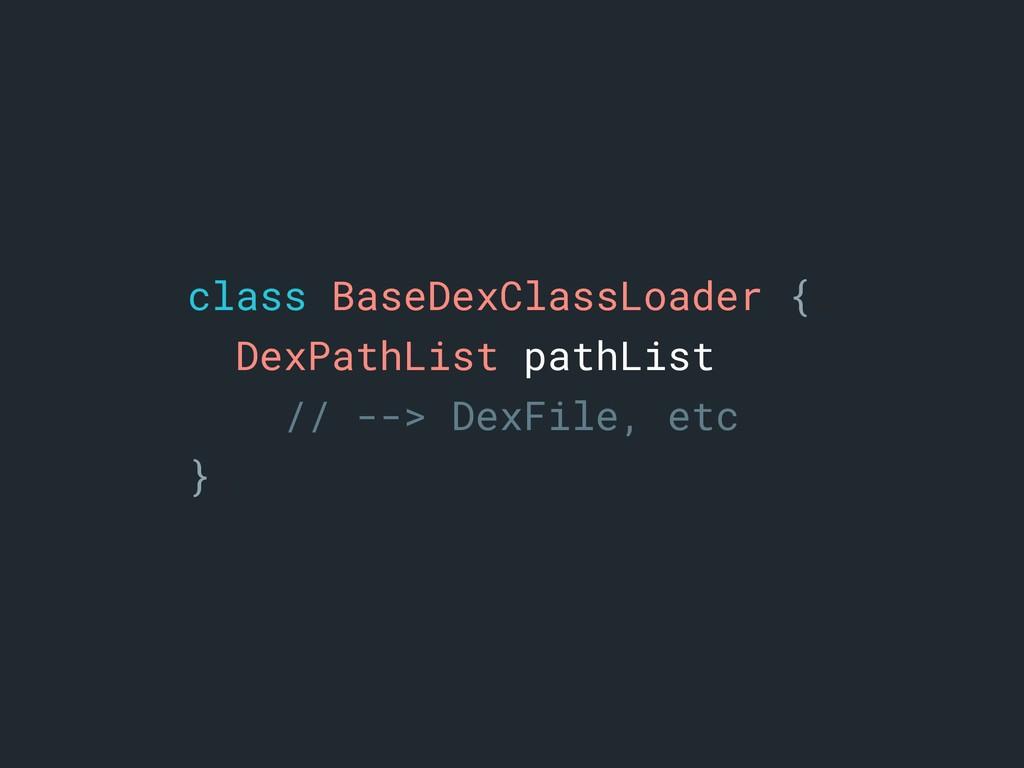 class BaseDexClassLoader {a DexPathList pathLis...