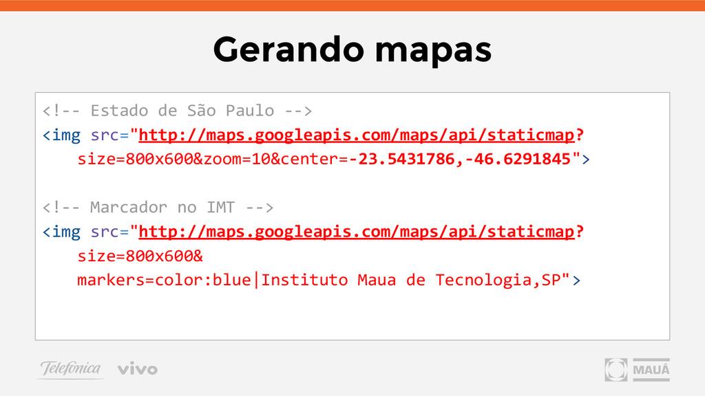 Gerando mapas <!-- Estado de São Paulo --> <img...