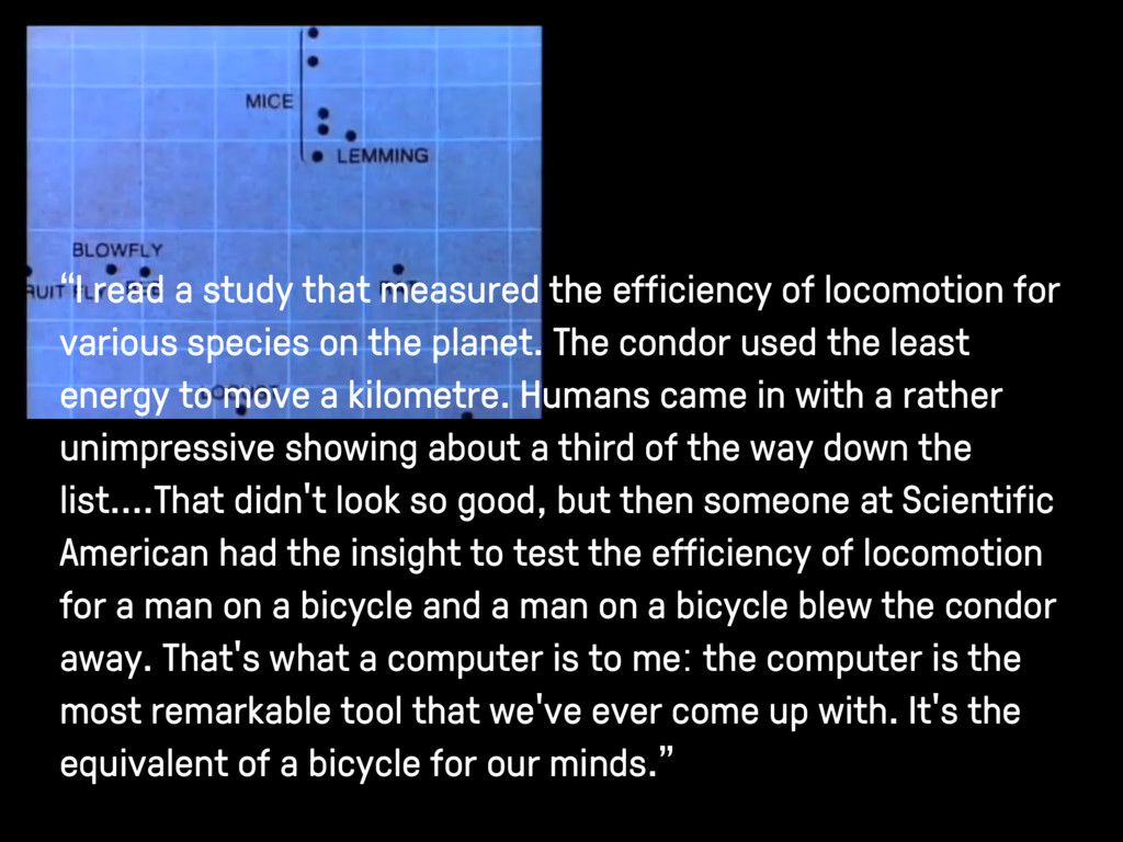 """I read a study that measured the efficiency of..."