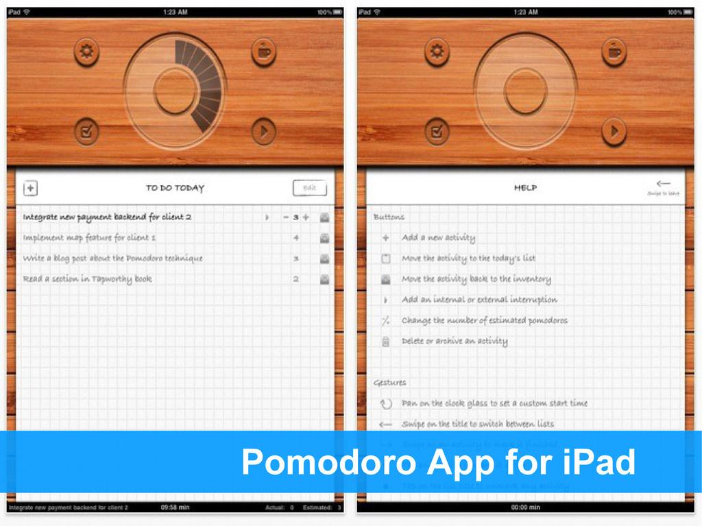 Pomodoro App for iPad