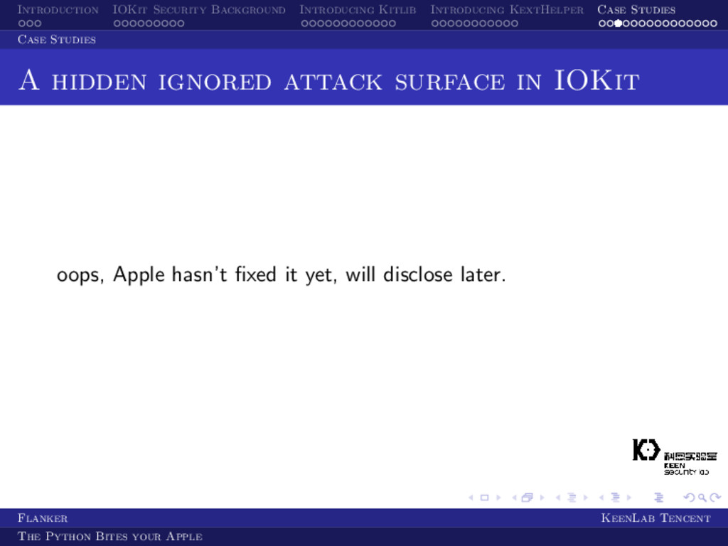 Introduction IOKit Security Background Introduc...