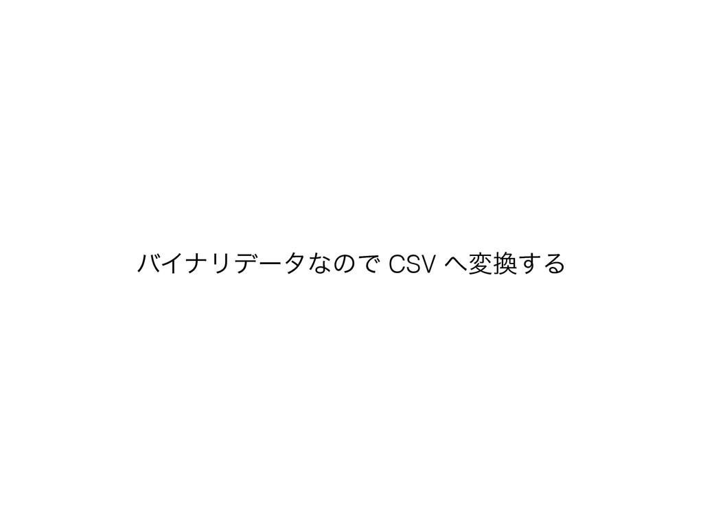 όΠφϦσʔλͳͷͰ CSV ม͢Δ