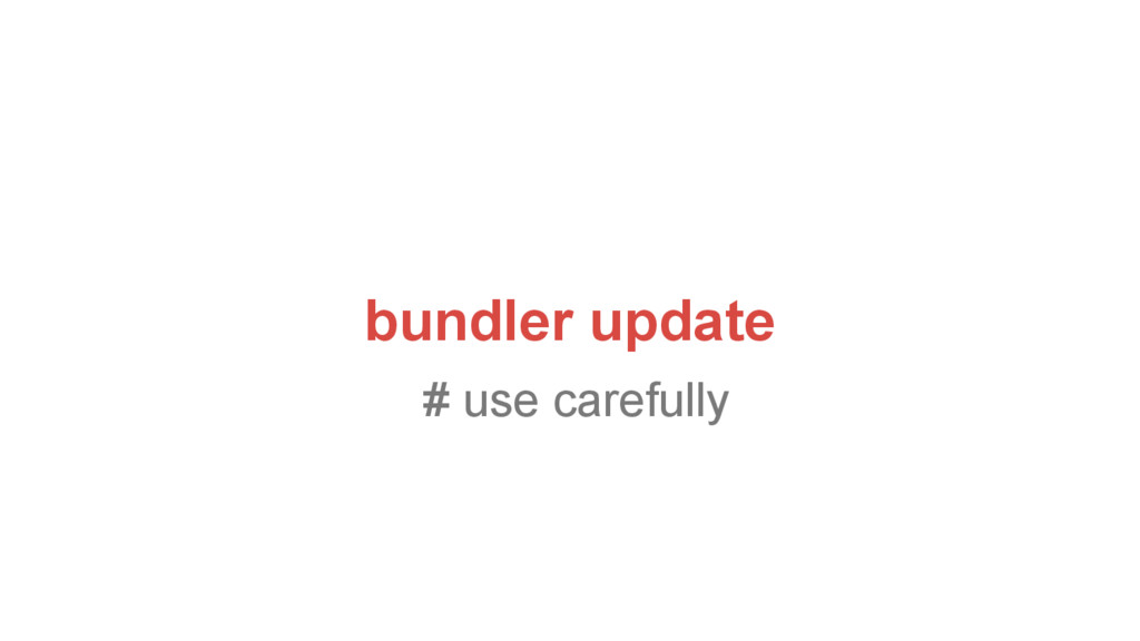 bundler update # use carefully