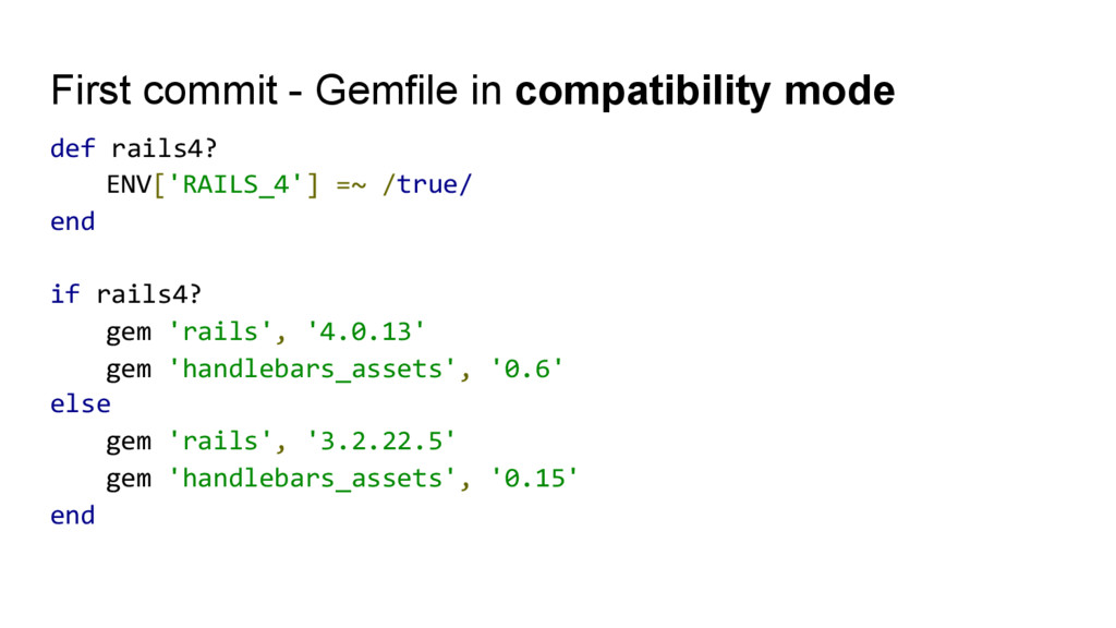 First commit - Gemfile in compatibility mode de...
