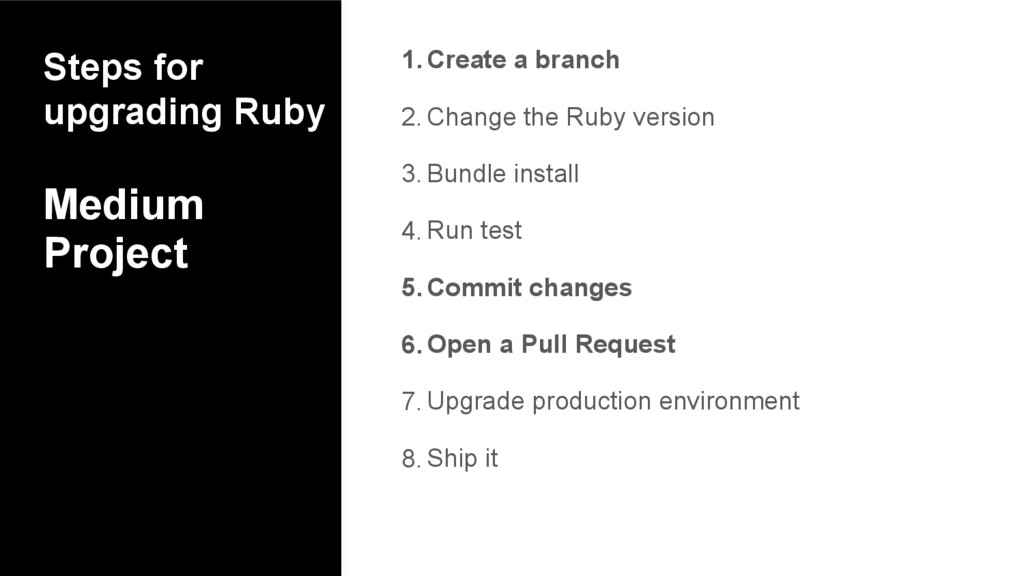 Steps for upgrading Ruby Medium Project 1.Creat...