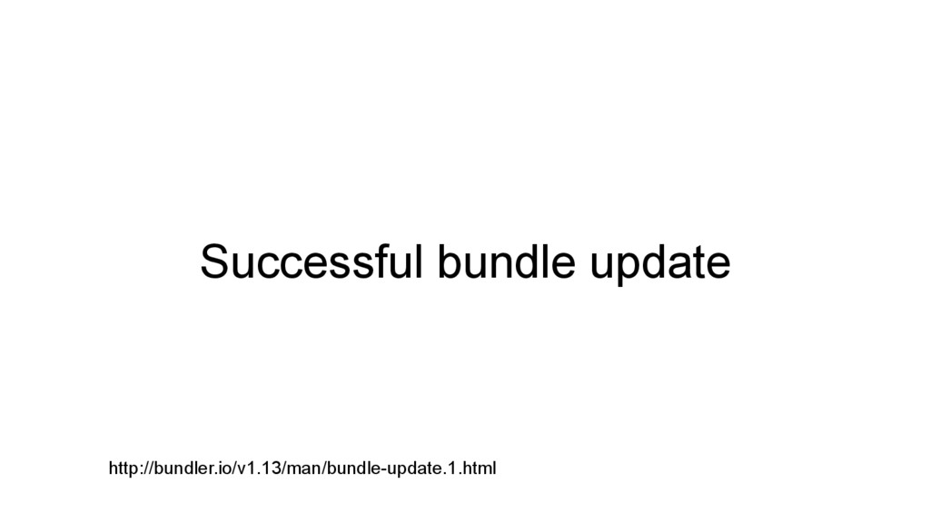 Successful bundle update http://bundler.io/v1.1...