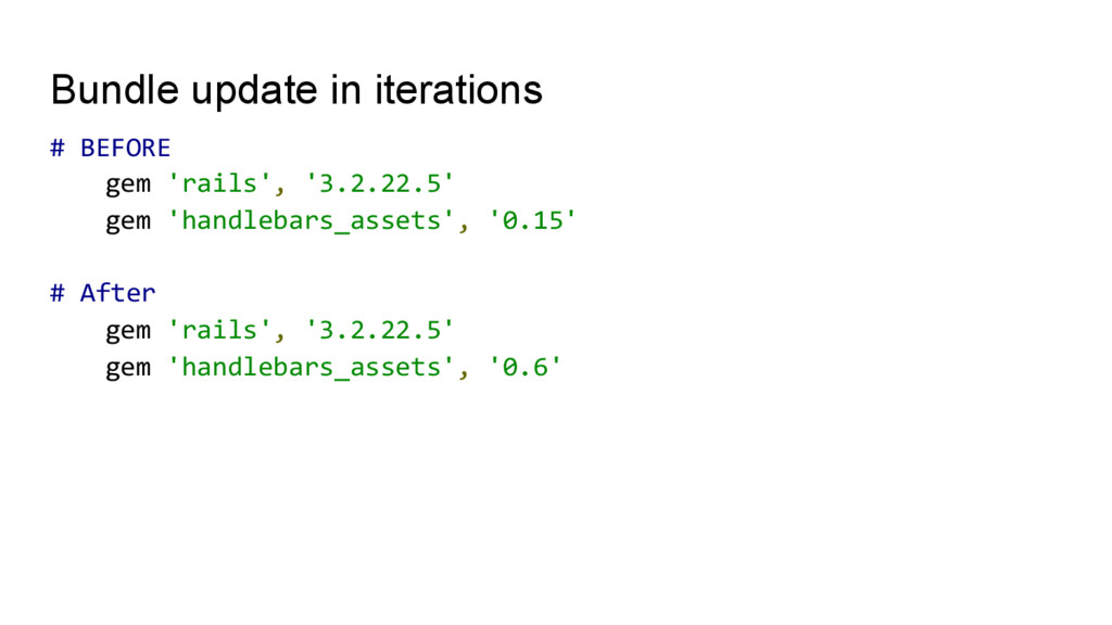 Bundle update in iterations #	