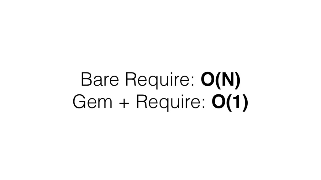 Bare Require: O(N) Gem + Require: O(1)