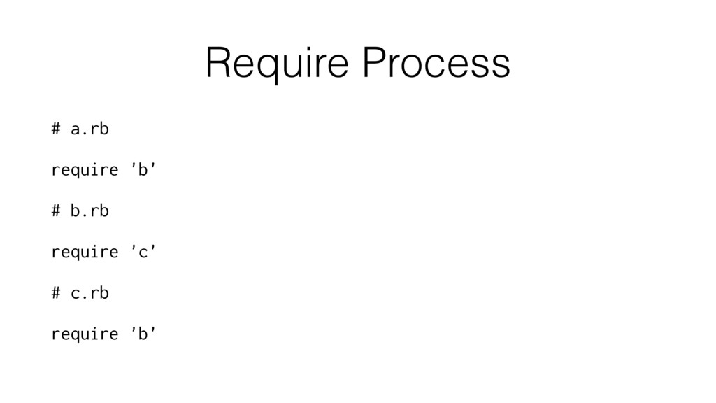 Require Process # a.rb require 'b' # b.rb requi...