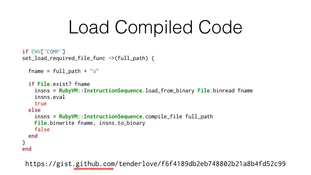 Load Compiled Code if ENV['COMP'] set_load_requ...